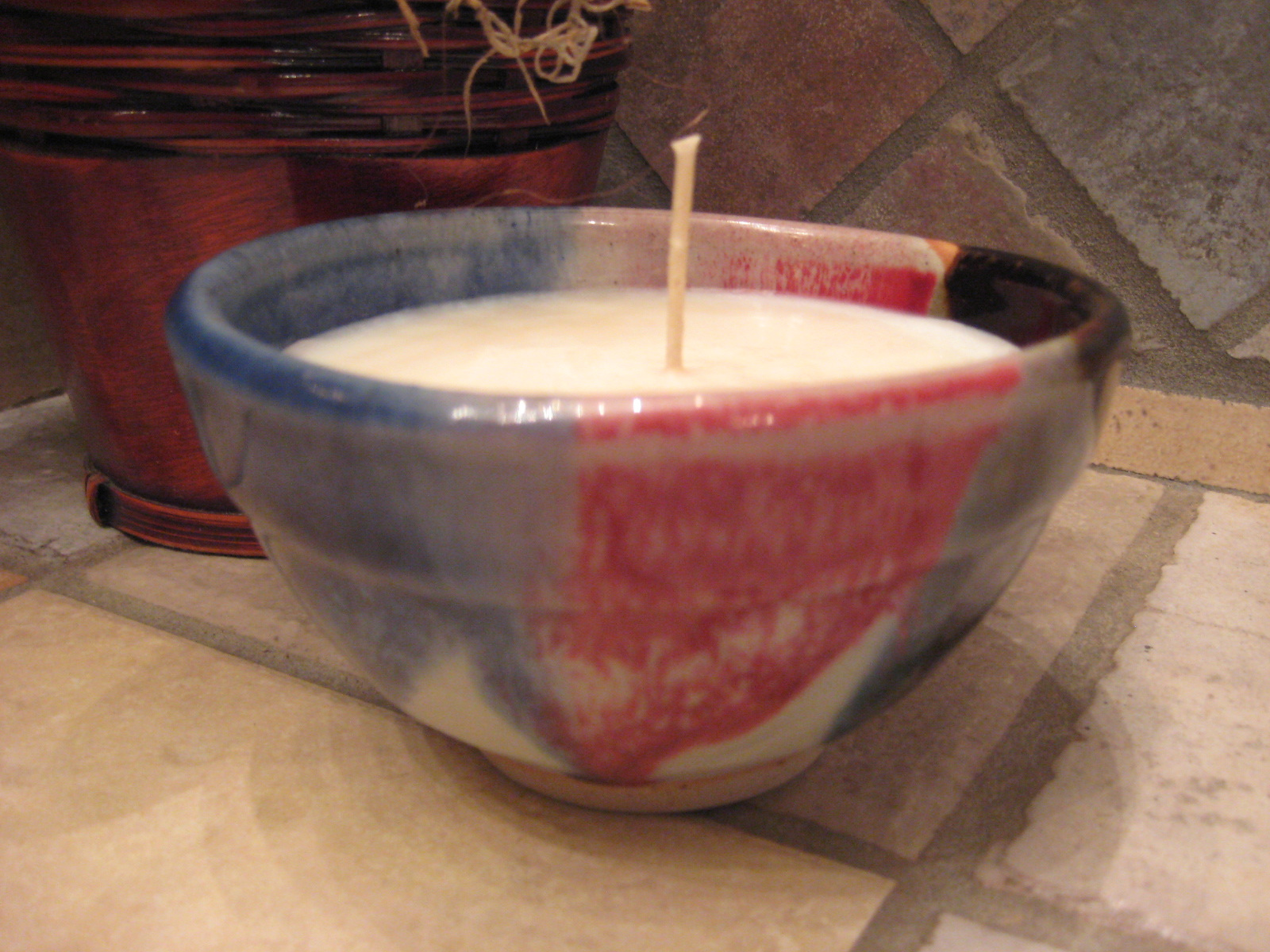 7 oz Soy Candle in handcrafted pottery