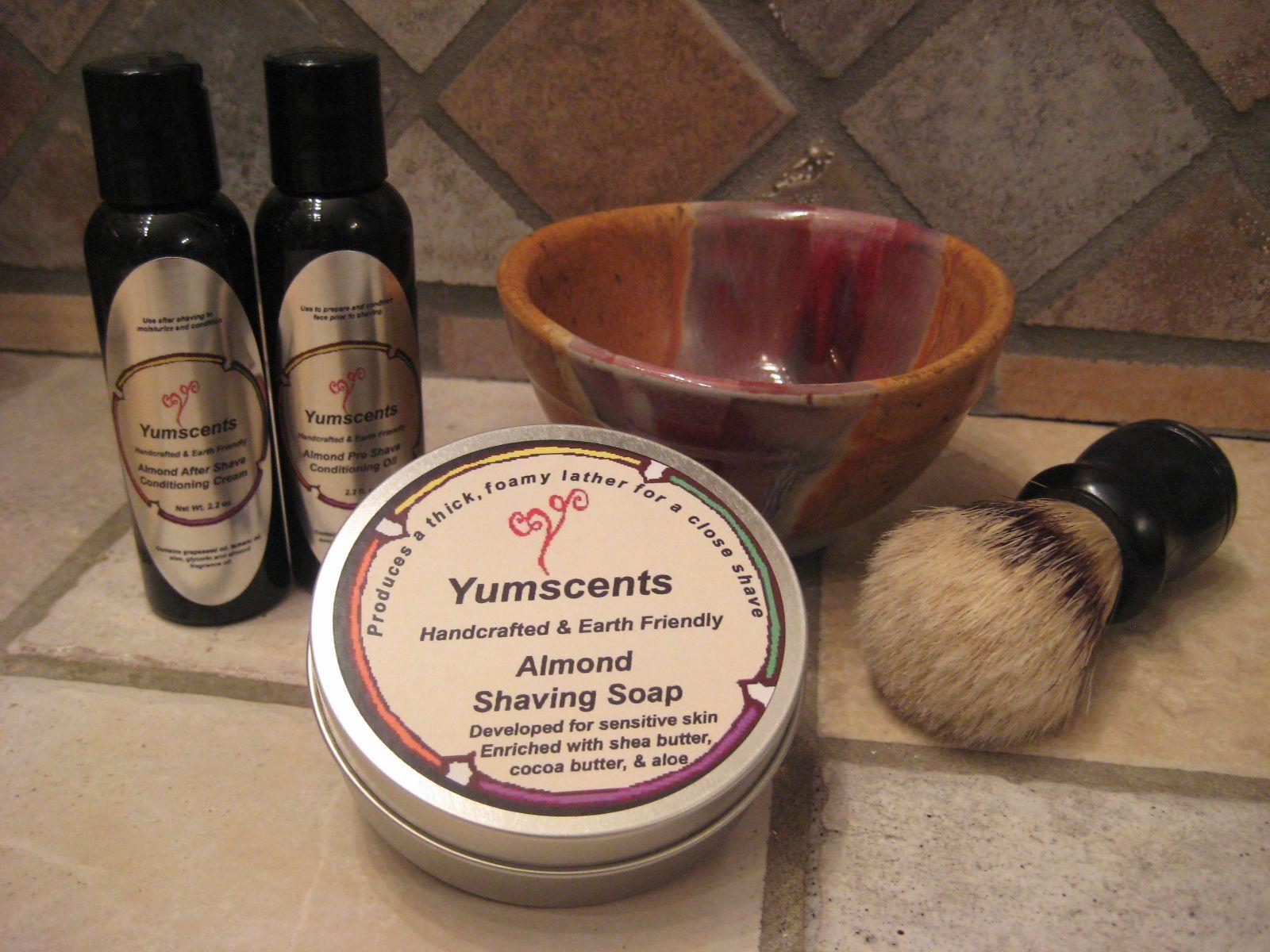 Large shaving kit with bowl or mug