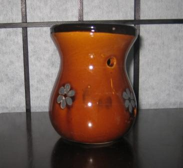 Brown Ceramic Mini Tea Light  Scent Warmer