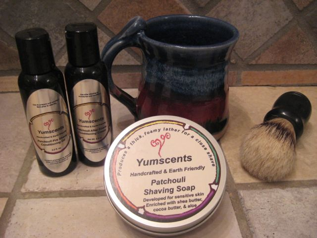 Large shaving kit with bowl or mug