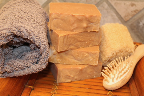 Lavender and Oatmeal Goat Milk Soap